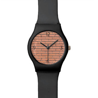 Motif de mur de briques montres