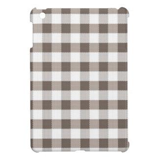 Motif de nappe de Brown Coques Pour iPad Mini