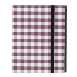 Motif de nappe de Purpe Coque iPad