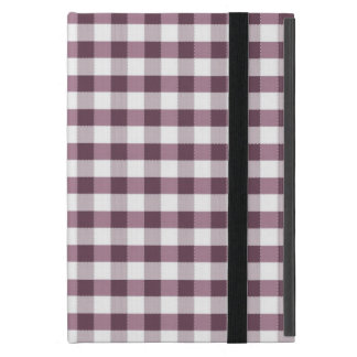 Motif de nappe de Purpe Étuis iPad Mini
