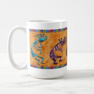 Motif de Natif américain de Kokopelli 3D Anasazi Mug Blanc