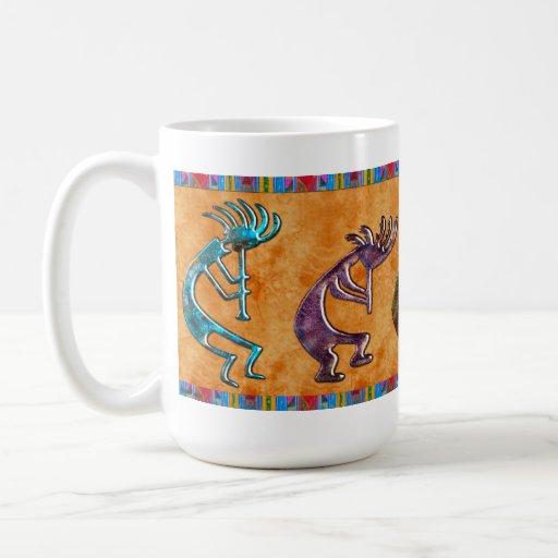 Motif de Natif américain de Kokopelli 3D Anasazi Tasse À Café