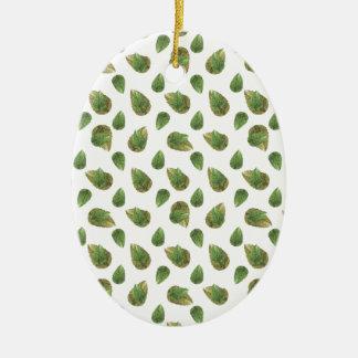 Motif de nature de motif de feuille ornement ovale en céramique