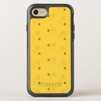 Motif de nid d'abeilles d'abeille coque otterbox symmetry pour iPhone 7