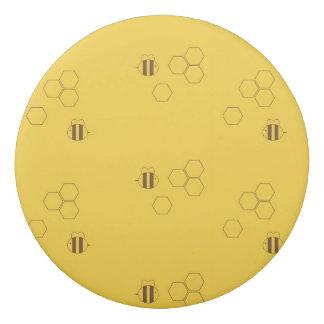 Motif de nid d'abeilles d'abeille gomme