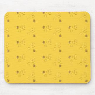 Motif de nid d'abeilles d'abeille tapis de souris