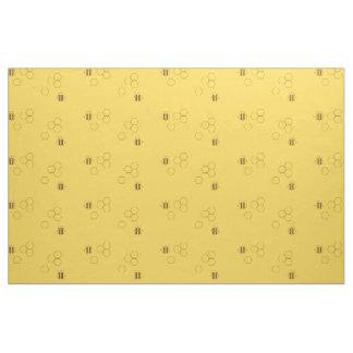 Motif de nid d'abeilles d'abeille tissu