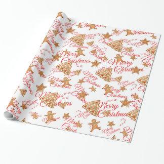 Motif de Noël de pain d'épice Papiers Cadeaux Noël