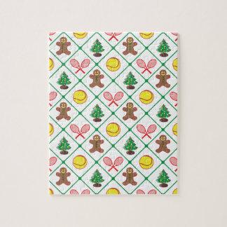 Motif de Noël de tennis Puzzles