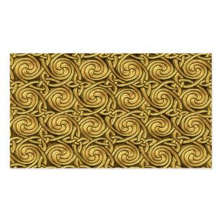 Motif de noeuds en spirale celtique d or brillant cartes de visite personnelles