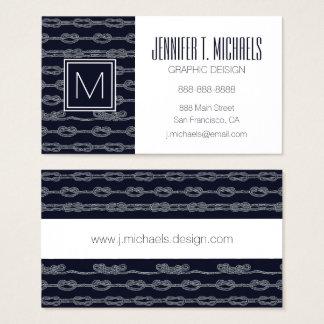 Motif de noeuds marin cartes de visite