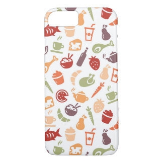 Motif de nourriture coque iPhone 7