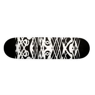 Motif de Nouveau d art en noir et blanc Planches À Roulettes Customisées