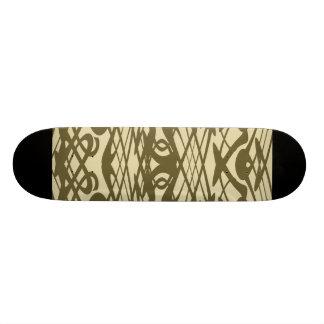 Motif de Nouveau d'art dans le beige et le Brown Plateaux De Skate