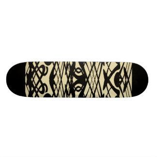 Motif de Nouveau d'art dans le beige et le noir Planche À Roulette