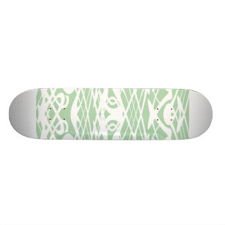 Motif de Nouveau d'art dans vert clair et blanc Planches À Roulettes Customisées