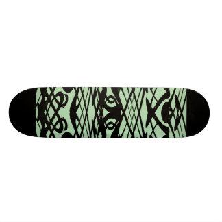 Motif de Nouveau d'art en vert et noir Plateaux De Skateboards Customisés