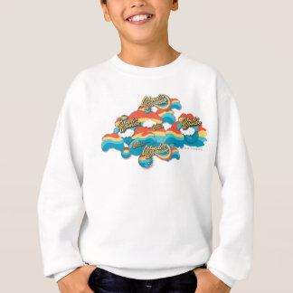 Motif de nuages d'arc-en-ciel de femme de sweatshirt