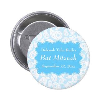 Motif de Paisley dans le bleu bat mitzvah Pin's