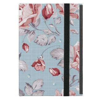 Motif de papier peint d'élégance des roses roses 2 étui iPad mini