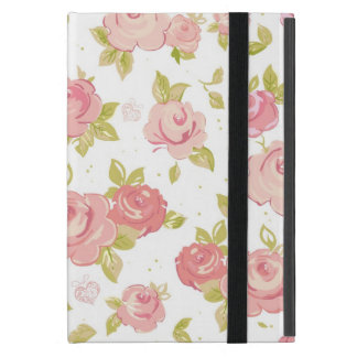 Motif de papier peint d'élégance des roses roses 3 coque iPad mini