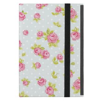 Motif de papier peint d'élégance des roses roses 4 étui iPad mini
