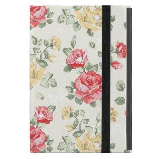 Motif de papier peint d'élégance des roses roses étui iPad mini