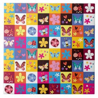 Motif de papillon à la mode génial carreau
