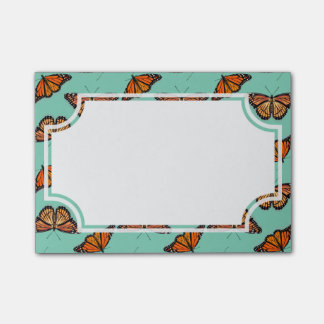 Motif de papillon de monarque post-it®