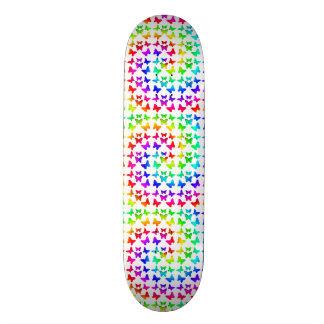 Motif de papillon de remous d'arc-en-ciel plateaux de skate