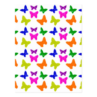 Motif de papillons coloré par multiple cartes postales