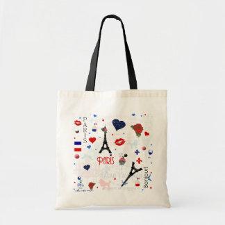 Motif de Paris avec Tour Eiffel Sacs De Toile