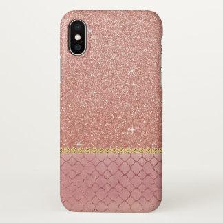 Motif de parties scintillantes et d'étincelle d'or coque iPhone x