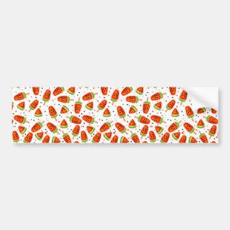 Motif de pastèque autocollant de voiture