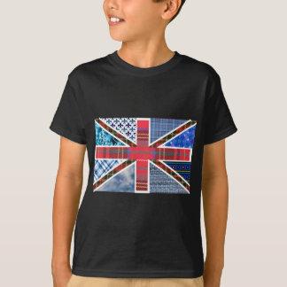 Motif de patchwork d'Union Jack T-shirts