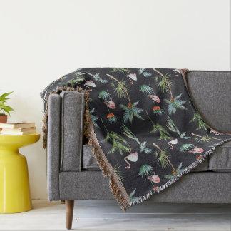 Motif de paume d'aquarelle couverture