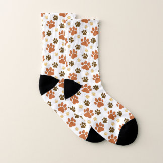 Motif de Pawprints de chien de Brown