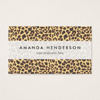 Motif de peau d'animal d'empreinte de léopard cartes de visite