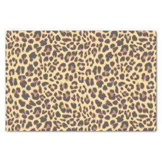 Motif de peau d'animal d'empreinte de léopard papier mousseline