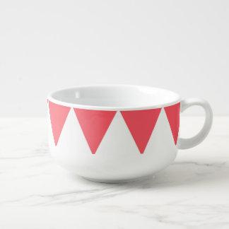 Motif de pêche et de triangles blanches rétro bol à soupe