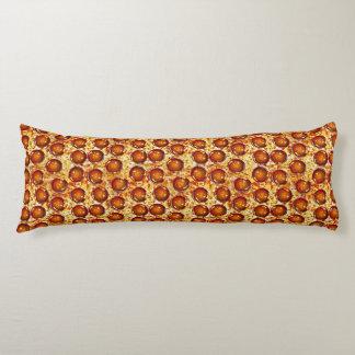 Motif de pepperoni et de pizza de fromage coussins longs