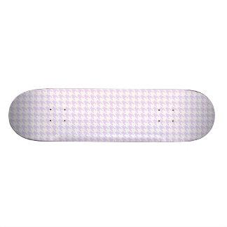 Motif de pied-de-poule - pourpre lilas planches à roulettes customisées