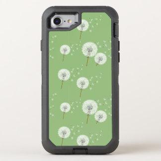Motif de pissenlit sur l'arrière - plan vert coque otterbox defender pour iPhone 7