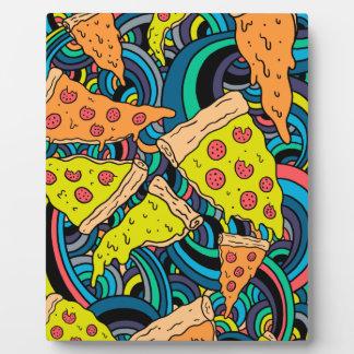 Motif de pizza plaque photo