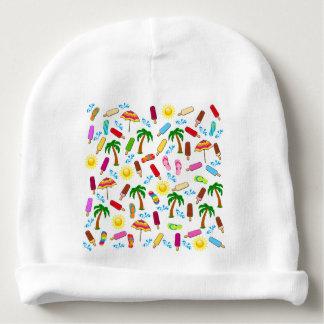 Motif de plage bonnet de bébé