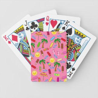 Motif de plage cartes à jouer