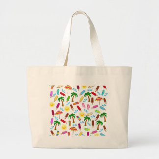 Motif de plage grand sac