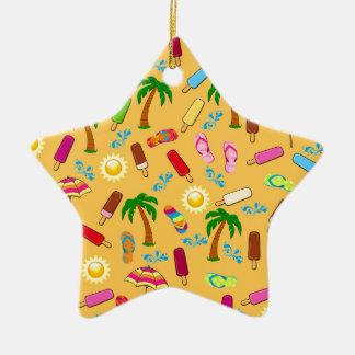 Motif de plage ornement étoile en céramique