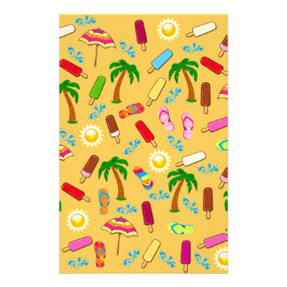 Motif de plage papier à lettre customisé