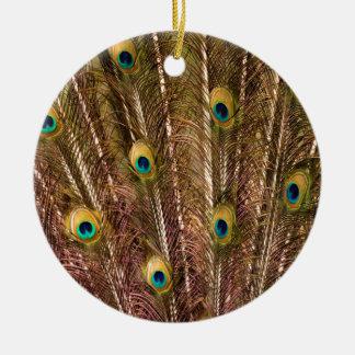Motif de plume de paon ornement rond en céramique